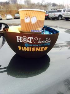 hot chocolate finisher mug